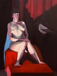 Girl with Crow. Oil on canvas. 2012 and 2016. SOLD
