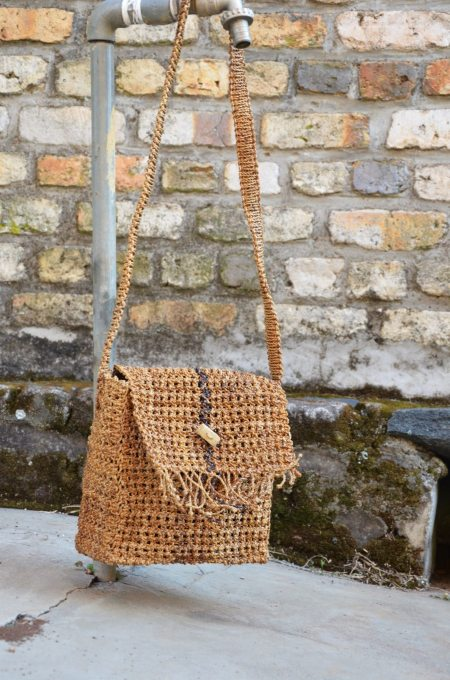 Banana Twine Purse with Stripe
