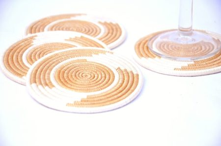 Woven Coaster Set Tea Natural