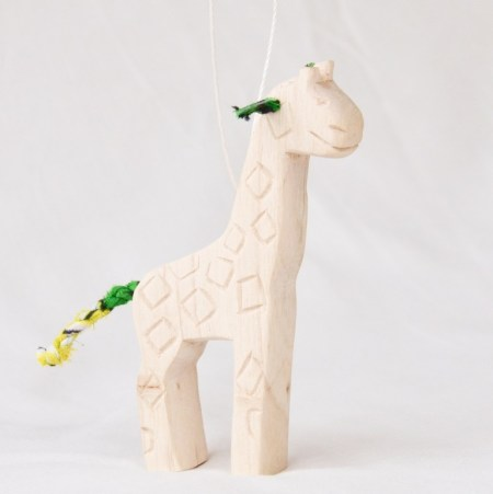 Carved Safari Animal Ornament- Giraffe web