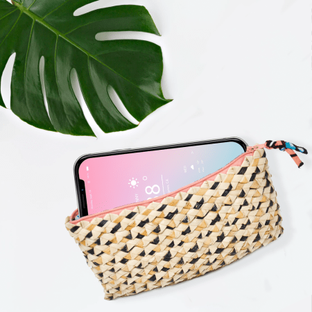 Palm Leaf Phone Purse