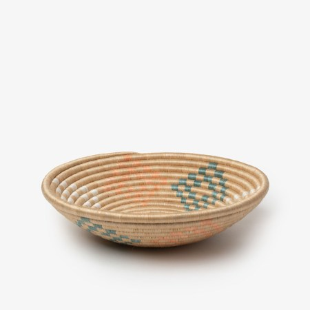 Bariku Bowl Medium Orange Teal - Side