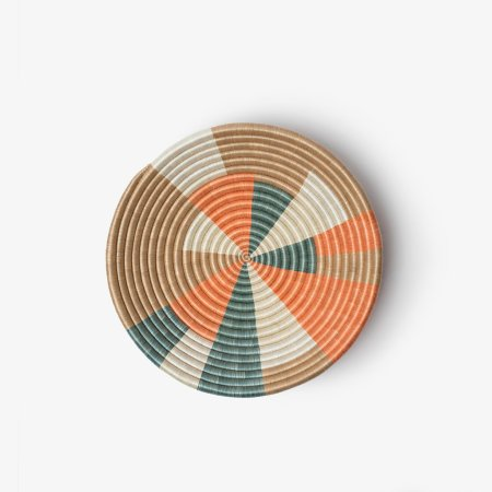 Prism Bowl Small Orange Teal - Overhead