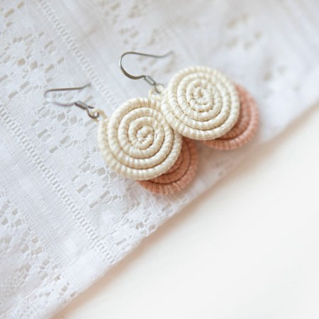 Kinga coral earrings