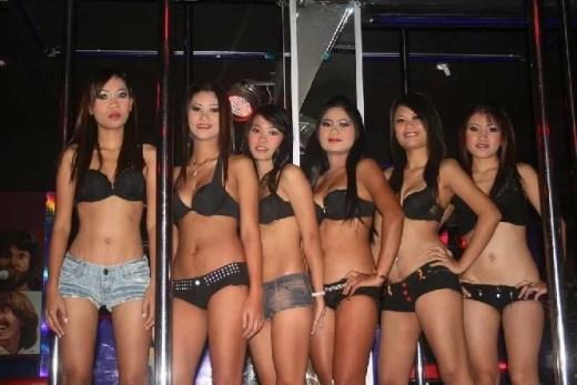 Barówy, Pataya, Tajlandia, bar girls, Azja po zmroku