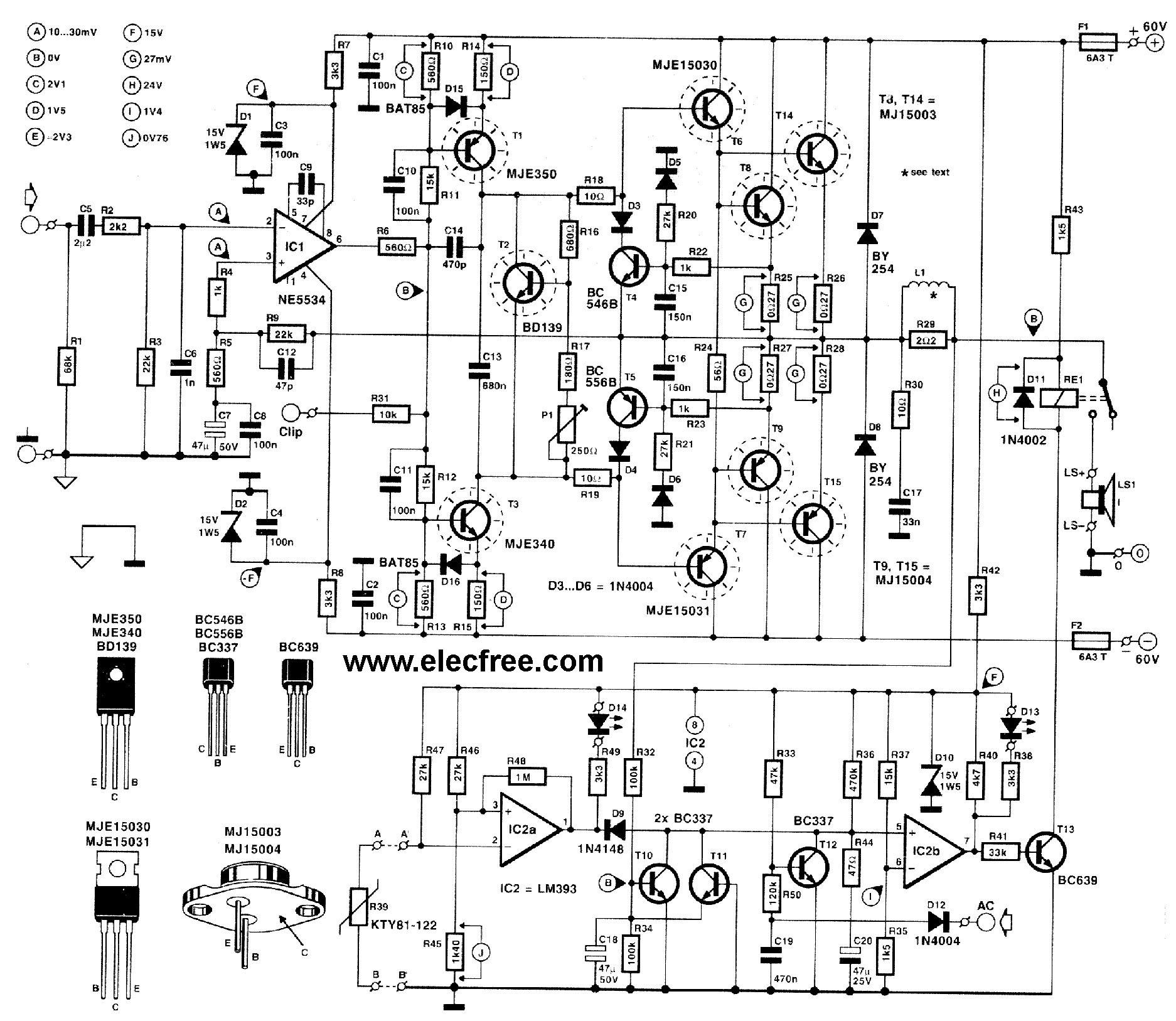 Poworamp 300watt Menggunakan Transistor Mj Dan Mj