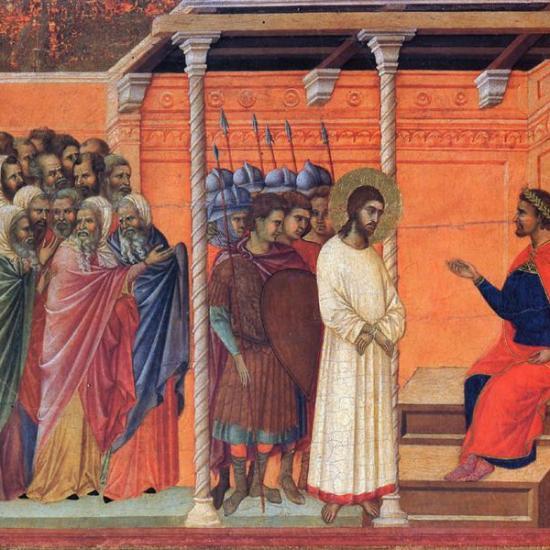 Дучо, Христос пред Пилат