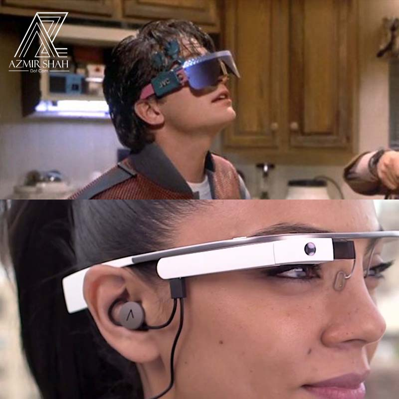 kaca mata pintar, google glass, smart glasses back to the future
