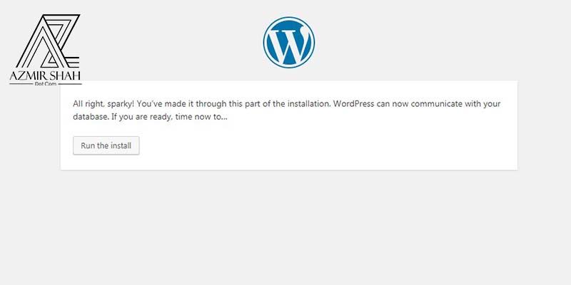 run install wordpress