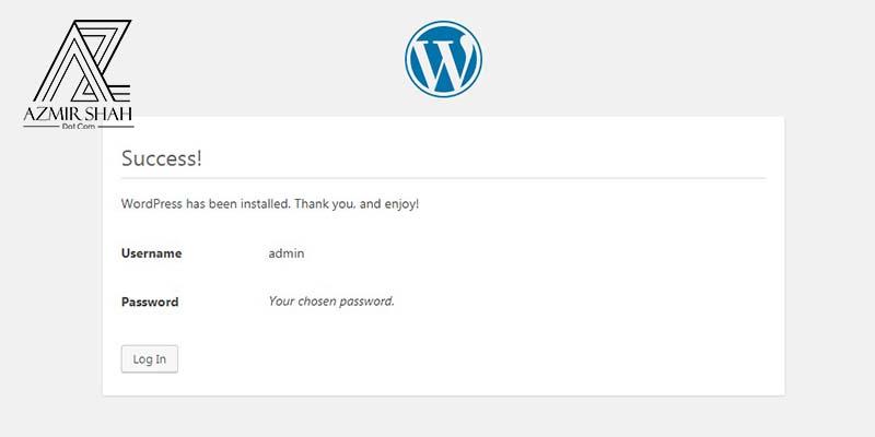 successful message wordpress