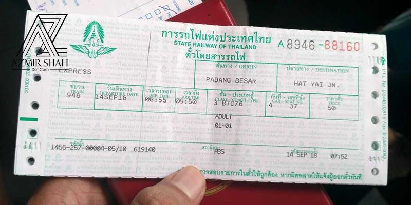 tiket ke hatyai, harga tiket hatyai, kereta api hatyai, stesen kereta api padang besar