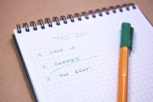 The list of to do things