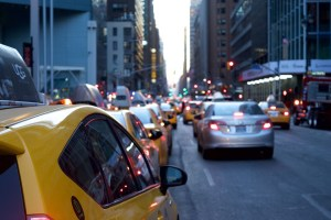 Traffic jam in NYC