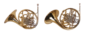 Two shiny trumpets
