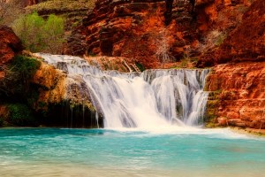 Amazing cascading waterfalls in beautiful nature of Arizona.