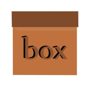A moving box.