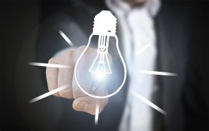 A light bulb representing utilities, things to do after moving