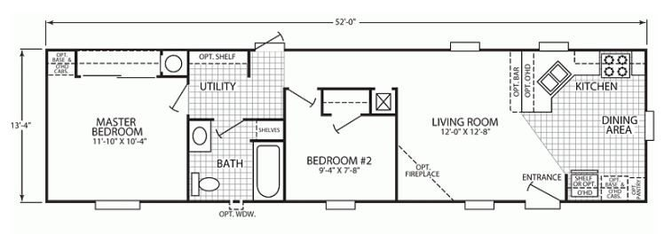 Amazing 14x70 Mobile Home Floor Plan