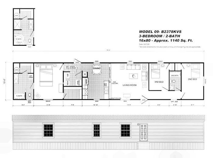 New 16x80 Mobile Home Floor Plans