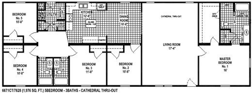 Awesome 5 Bedroom Mobile Home Floor Plans