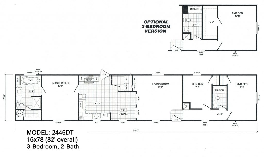 Elegant Single Wide Mobile Home Floor Plans And Pictures