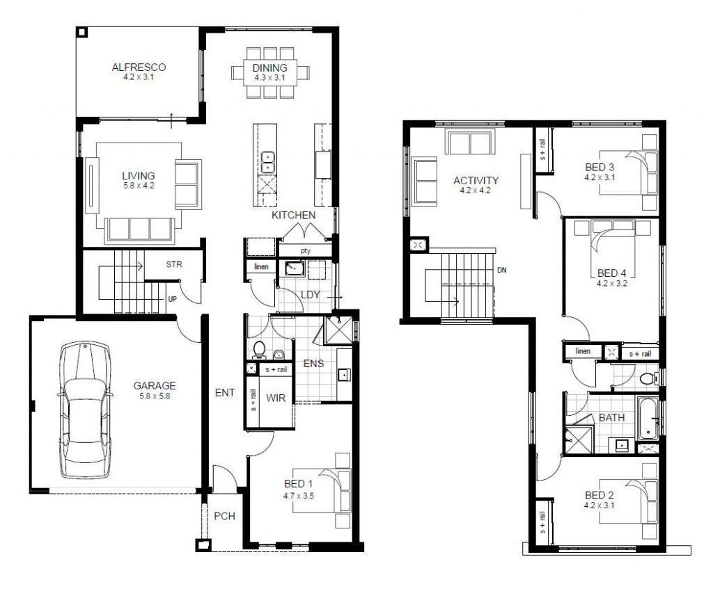 Luxury 4 Bedroom House Plans 2 Story Novocom Top