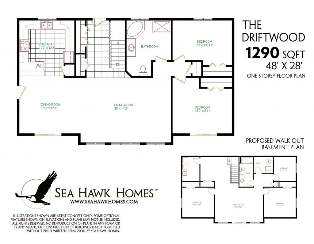 Beautiful One Story House Plans With Finished Basement