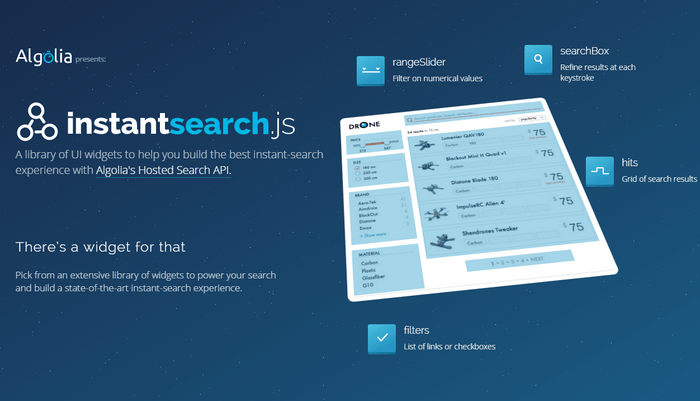 Instant Search JS – UI Widget