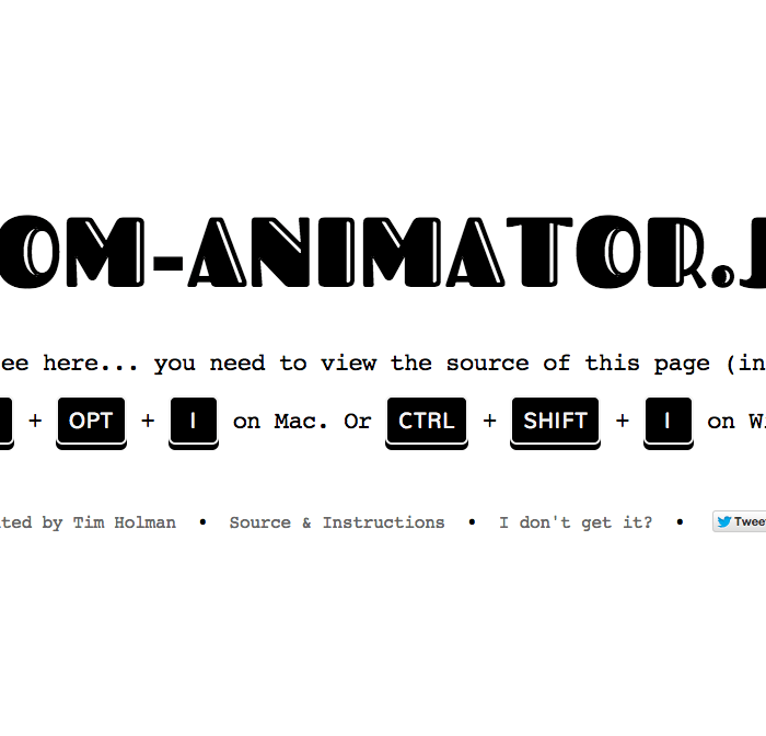 Dom Animator – Animations within the Dom in JavaScript