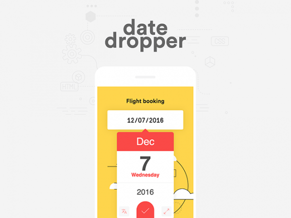 Datedropper v3.0 – A powerful jQuery UI datepicker