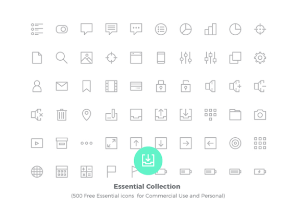 Essential Collection: 500 free vector icons