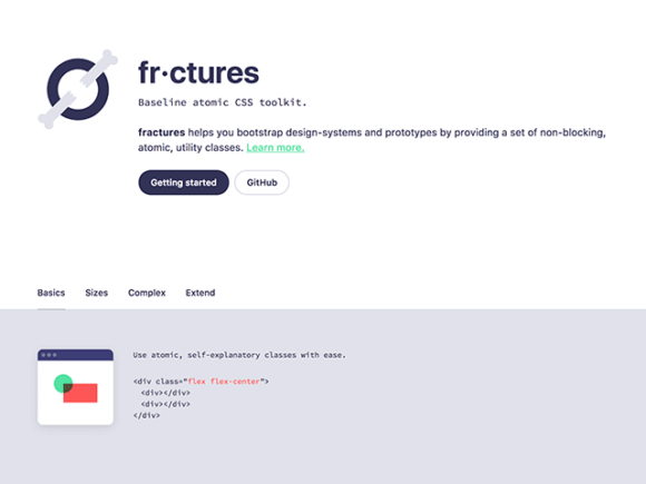 Fractures – An atomic CSS toolkit for building websites