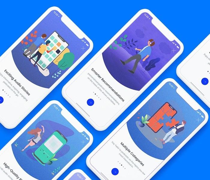 App Onboarding & Walkthrough Screens