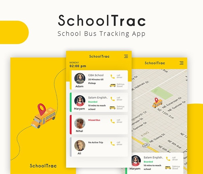 SchoolTrac: School Bus Tracking App