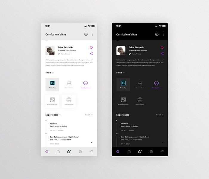 Resume: An iOS Mobile App Design
