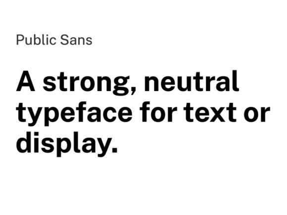 Public Sans: A nice open-source typeface