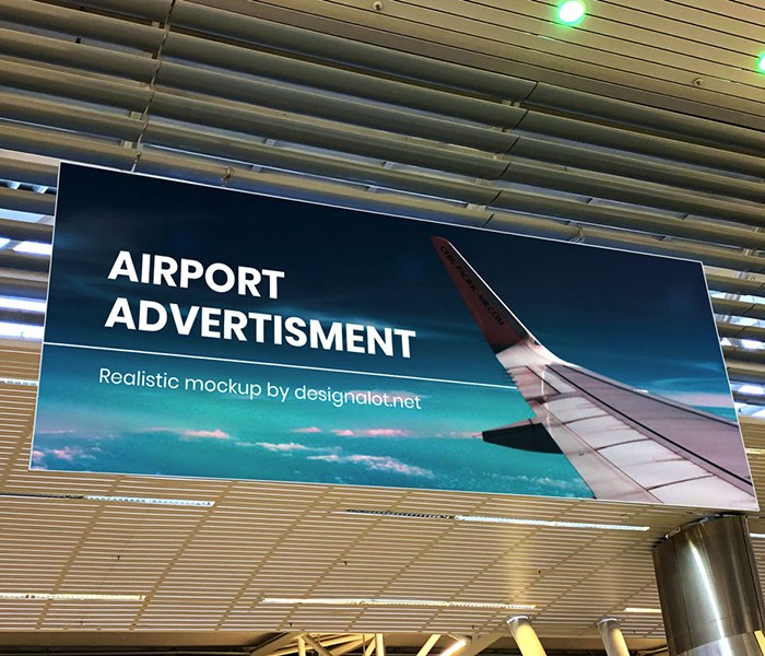 Free Airport Ads Mock-up