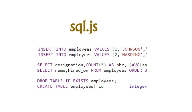 sql.js: SQLite Compiled to JavaScript