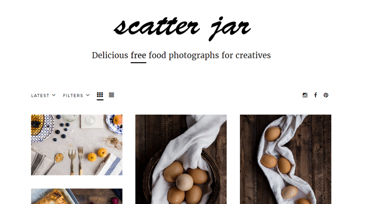 Scatter Jar: Free Food & Drinks Stock Photography