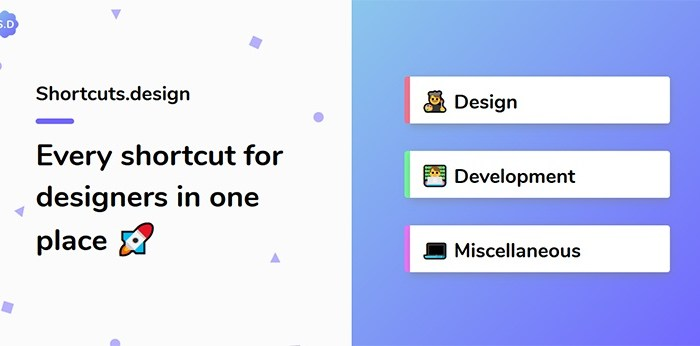 Shortcuts.design: Keyboard Shortcuts For Design Programs