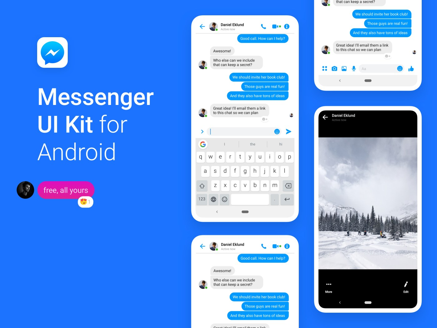 Facebook Messenger UI Kit (2019)