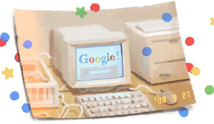 Happy Birthday Google: Celebrating its 21st birthday with a special Doodle.