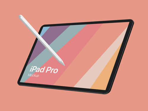 iPad Pro Design Mockup for Adobe Photoshop