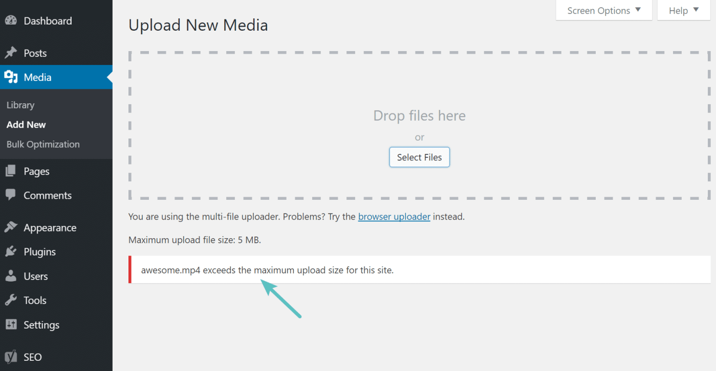 How to Increase the WordPress File Upload Limit