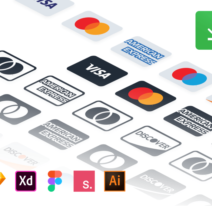 Payment Gateways Icons For Figma, Sketch, XD and Illustrator Free