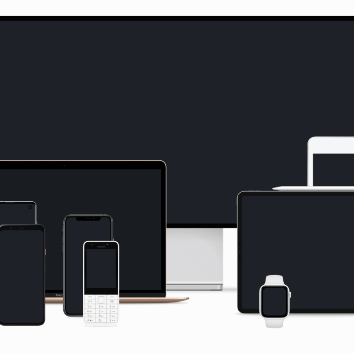 Devices: Sketch mockups of popular devices