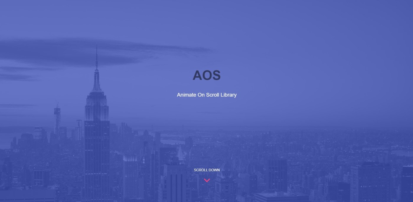 AOS: A Free Javascript Library To Easily Animate Website Elements on Scroll