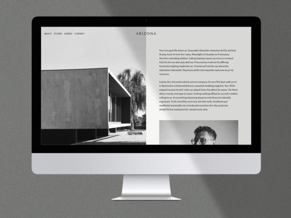 Arizona: Free HTML Template for Personal or Portfolio Website