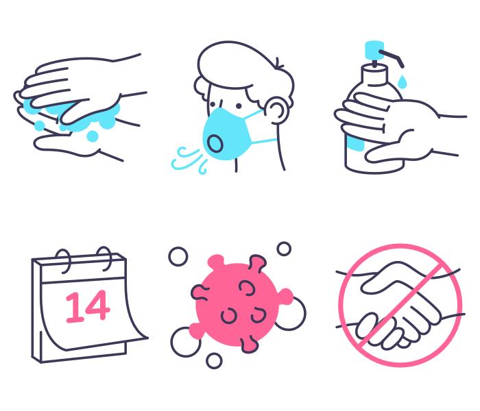 6 Coronavirus Icons for Sketch