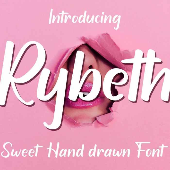 Free Rybeth Hand-Drawn Font